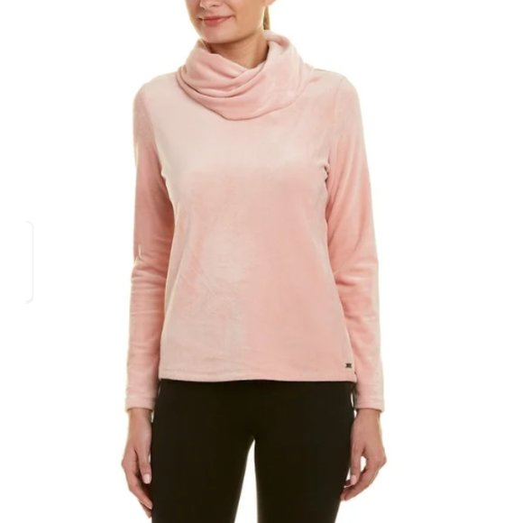 Andrew Marc Sweaters - MARC NEW YORK Performance Velour Cowl Top Pink